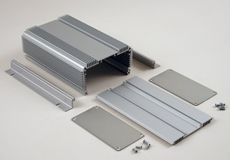 Extruded aluminium housing copes with high thermal loads