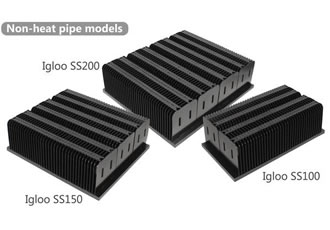 Heatsinks provide a thermal resistance of up to 0.5°C/W