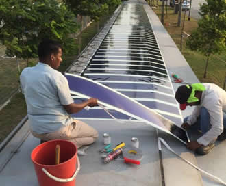 First phase of HeliaFilm PV installation completed in Singapore