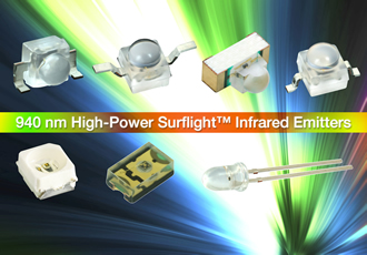 High-speed 940nm IR emitters reduce component count