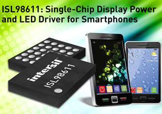 PMIC integrates display power & backlight LED driver