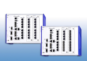 Industrial switches enable flexible Ethernet installations