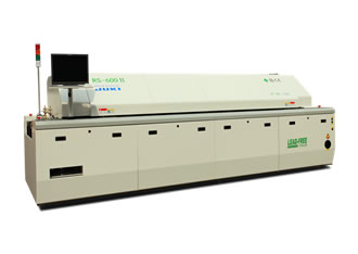 Air & nitrogen reflow ovens with six seperate zones