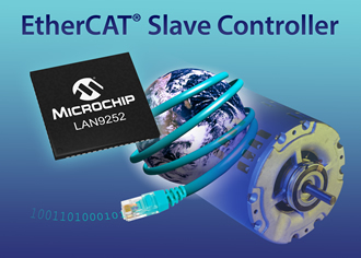 EtherCAT slave controller integrates two 10/100 PHYs