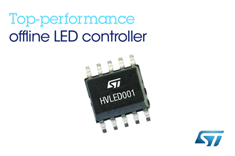LED AC/DC controller features a THD of less than 10%