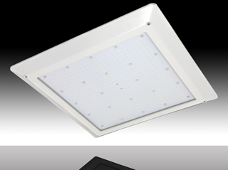 LED canopy fixtures offer high-performance in a slim profile