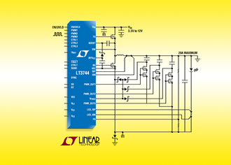 LED driver delivers up to 40A of LED current