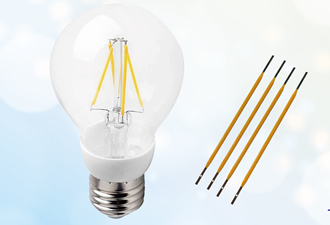 LED filaments are designed to replace incandescent bulbs