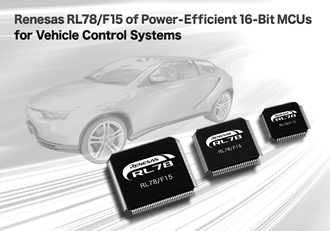 Low-power 16-bit MCUs target vehicle control systems