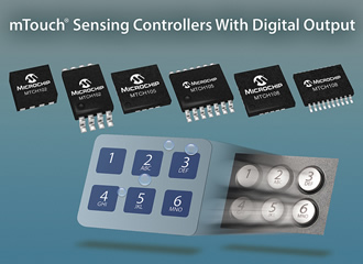 Capacitive touch controllers replace mechanical buttons