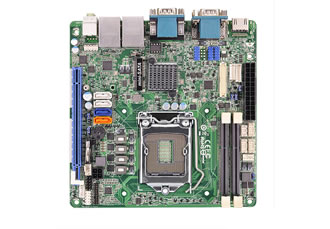Mini-ITX motherboard supports powerful graphic processing