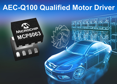 AEC-Q100 motor driver offers 1.5A peak phase current