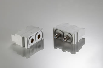 Modular connector system features spindle locking