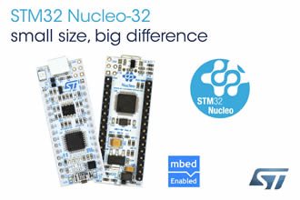 Nucleo development boards target 32-pin STM32 MCUs