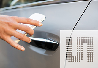NFC reader IC selected for car door locking module