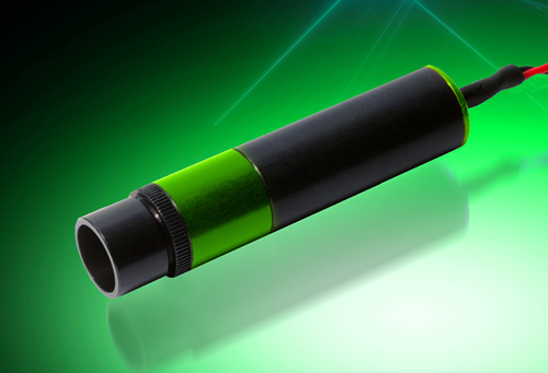 Green laser diode modules suited for medical applications