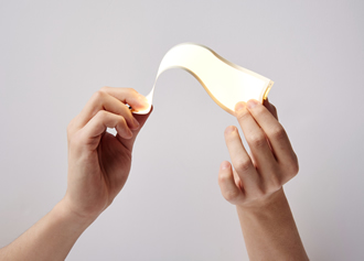 OLED panel has a bend radius of 30mm
