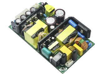 Open frame power supplies deliver 280W continuous output