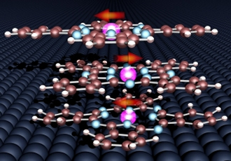 Organic molecules used to stabilise magnetic orientation