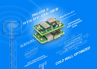 DC/DC converter offers 10-33V output for RFPA applications