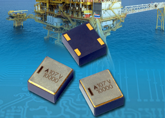 SMD tantalum capacitors rated to 10,000 hours at 200°C