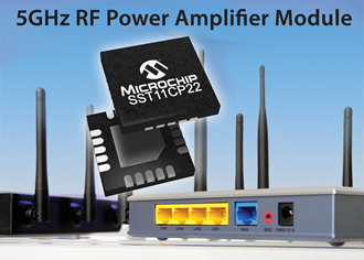 5GHz power amplifier module extends WLAN range