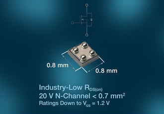 20V MOSFET saves space & power in mobile applications