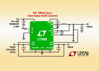 Switching regulator integrates LDOs for accurate tracking