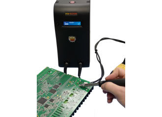System provides adequate thermal energy flow for conduction soldering