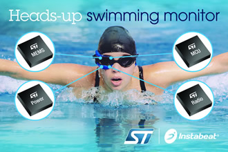 Clip-on HUD provides session info for swimmers