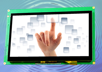 TFT displays with integral capacitive touchscreens