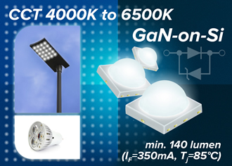 Toshiba expands GaN-on-Si high power white LED range
