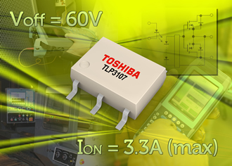 3.3A photorelay for testing and control applications