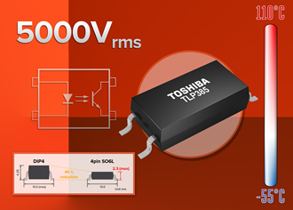 Transistor output photocoupler offers high isolation
