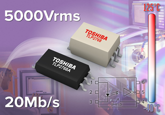 Thin high-speed photocoupler suits industrial automation