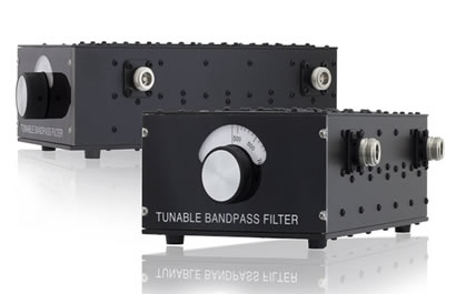 Tunable RF filters operating between 100 MHz & 3 GHz