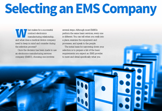 Whitepaper explores EMS for medical device companies