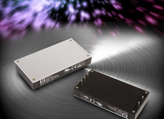 Full brick sized power supply offers high efficiency