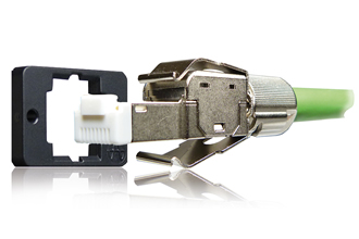 Connector features locking for the best possible vibration resistance