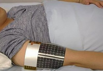Printable, wearable temperature sensor provides fever alerts