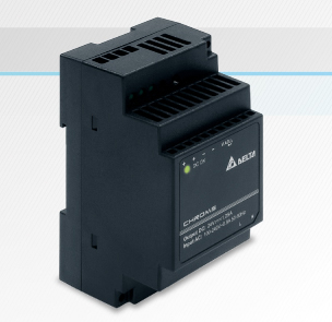 DIN rail power supply suits compact cabinets