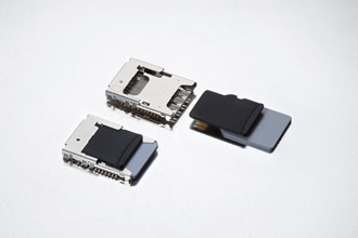MicroSD/micro-SIM combo connector saves space