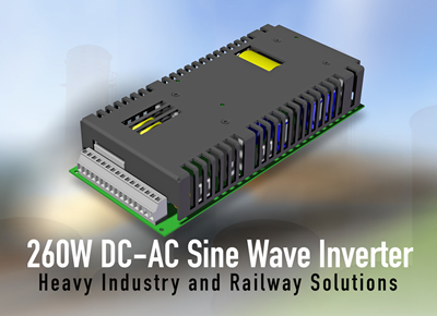 Compact sine wave inverters deliver up to 260W of power