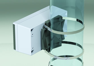 Enclosure's dedicated bracket enables pole mounting