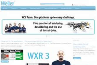 Weller Tools' improved user-friendly website