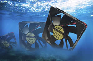 Waterproof fan stands up to harsh environments