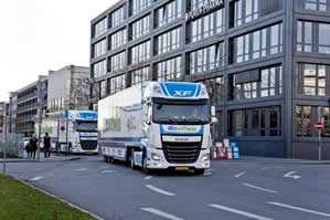 Lorries platoon in Munich to demo secure transport system