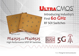 RF SOI switches operate up to 60GHz