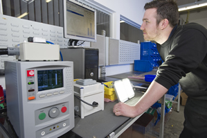 Testers upgrade LED lighting production line