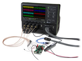 SPMI decoder combines with oscilloscope for power integrity test